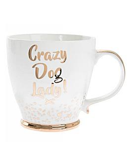 Bubbly Gold Crazy Dog Mug