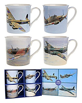Classic Aero Set Of 4 Gift Mugs