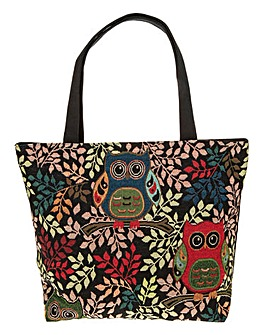 Equilibrium Midnight Owls Large Tote Bag