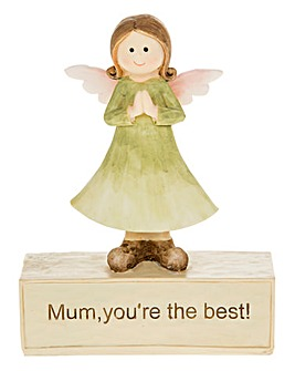 Mum You Are The Best Angel Ornament