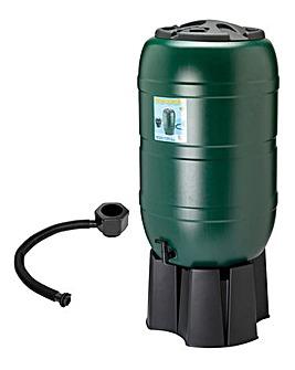210L Garden Round Plastic Water Butt Set