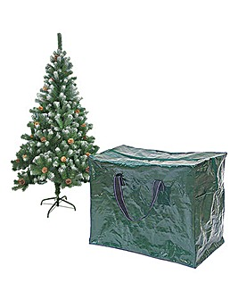 Zipped Christmas Decoration Storage Bag