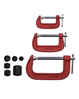 AmTech 3Pc G Clamp Set