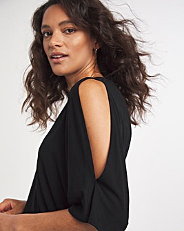 Cold Shoulder Relaxed Tunic