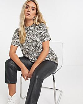 Leopard All Over Foil Print Top