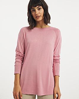 Pearl Shoulder T-Shirt