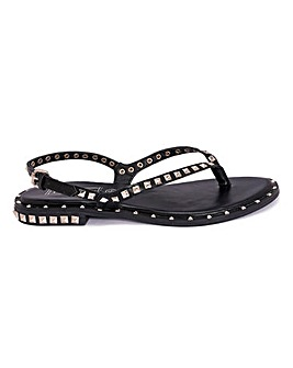 Studded Toepost Sandals Standard Fit
