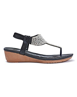 Toepost Wedge Sandals Standard Fit