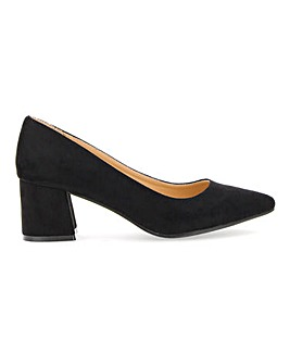 Elodie Pointed Block Heel Court Ext Wide