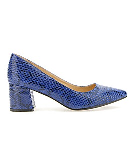 Elodie Pointed Block Heel Court Wide E Fit
