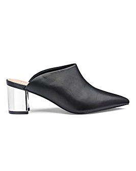 Adriana Pointed Block Heel Mule Wide Fit
