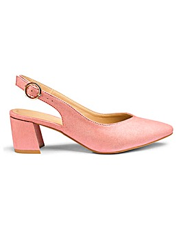 Knox Block Heel Slingback Wide Fit