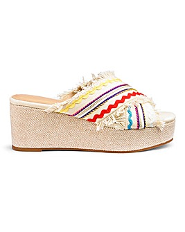 Suri Frayed Flatform Extra Wide Fit