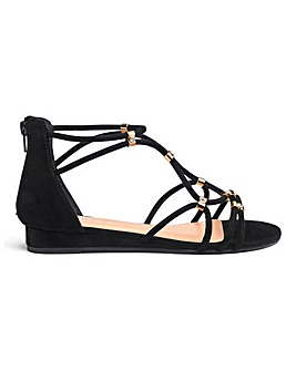 Karmen Demi Wedge Sandal Wide Fit