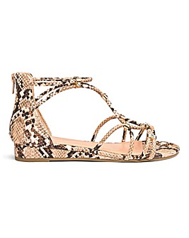 Karmen Demi Wedge Sandal Extra Wide Fit