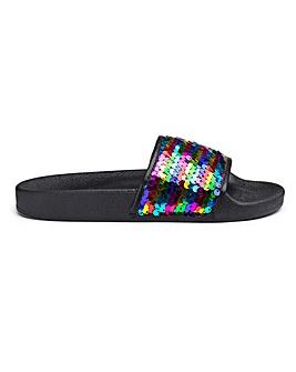 Maggie Sequin Sliders Wide Fit
