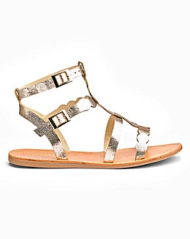 Daphne Gladiator Sandal Extra Wide Fit