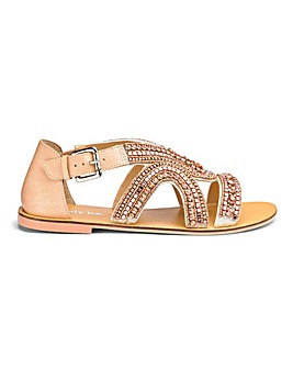 Sydney Jewel Strapped Sandals Wide Fit