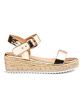 Indra Espadrille Wedge Extra Wide Fit