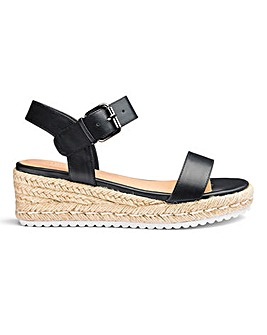 Indra Low Espadrille Wedge Wide E Fit
