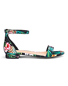 Ruby Low Heel Ankle Strap Wide E Fit