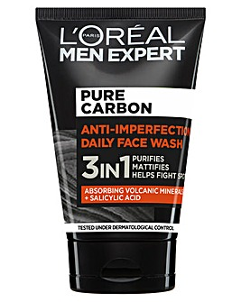 L'Oreal Men Expert Pure Carbon 3 in 1 Daily Face Wash 100ml