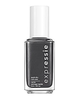 Essie ExprEssie Quick Dry Formula - Charcoal Black Nail Polish 365 What The Tech