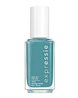 Essie ExprEssie Quick Dry Formula - Teal Blue Nail Polish 335 Up Up Away Message