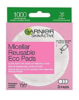 Garnier Micellar Reusable Make-up Remover Eco Pads - 3 Micro Fibre Pads