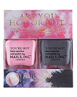 Nails Inc Are You Hot or Not Nail Polish Duo