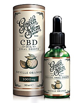 Green Stem Seville Orange Flavoured CBD Oil Oral Drops - 1000mg