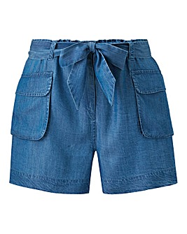 Tencel Belted Cargo Shorts