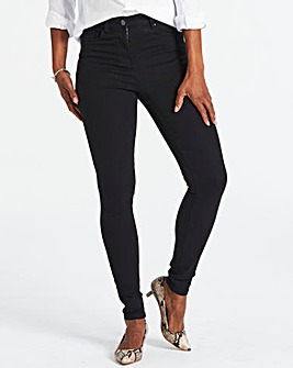 Tall Black Lucy High Waist Skinny Jeans