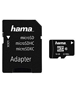 Hama microSDHC 16GB Class 10 + Adapter