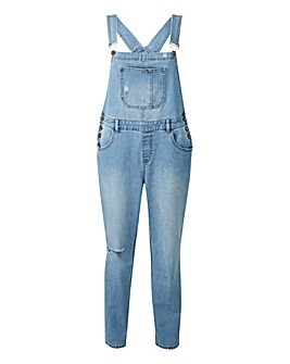 Relaxed Comfort Stretch Denim Dungarees