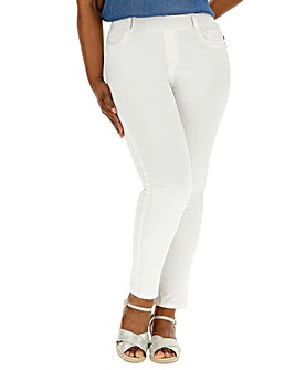 White Bella Slim Leg Jeggings
