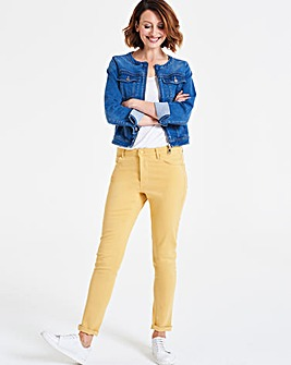 Yellow Sadie So Soft Tencel Slim Jeans