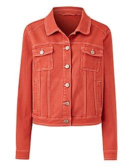 Terracotta Western Style Denim Jacket