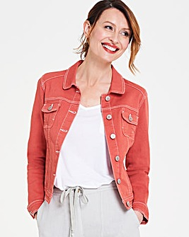 Terracotta Western Style Denim Jacket