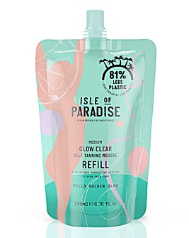 Isle of Paradise Medium Glow Clear Mousse Refill Pouch 200ml