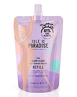 Isle of Paradise Dark Glow Clear Mousse Refill Pouch 200ml