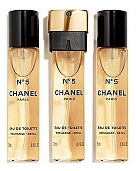 Chanel No 5 Eau de Toilette 3x20ml Refills