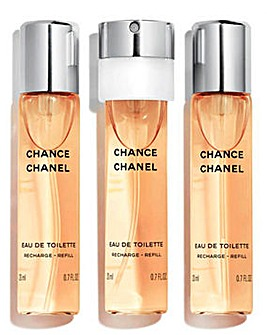Chanel Chance Eau de Toilette 3x20ml Refills