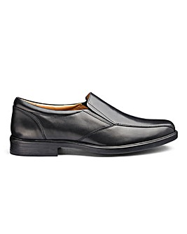 Leather Formal Slip Ons Extra Wide Fit