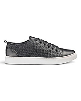 Woven Lace Up Casual Shoes