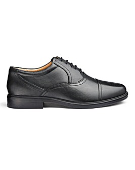 Leather Lace Oxford Shoes Extra Wide