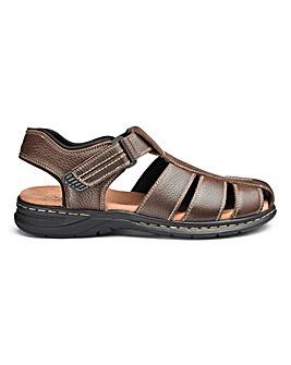 Leather Sandalised Shoes Standard