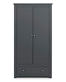 Alpha 2 Door 1 Drawer Wardrobe