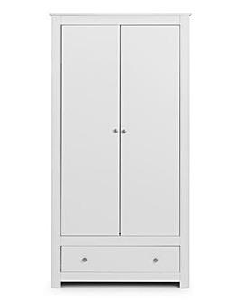Alpha 2 Door 1 Drawer Wardrobe