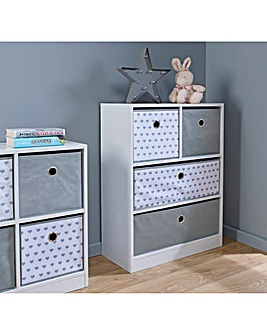 Hearts 2 over 2 Drawer Unit